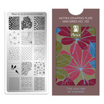 Moyra Moyra Mini Stamping plate 102 The last day of summer
