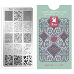 Moyra Moyra Mini Stamping plate 101 Angels will cry