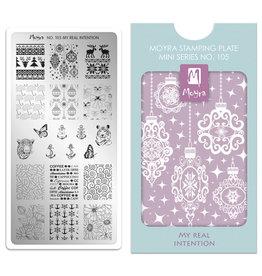 Moyra Moyra Mini Stamping plate 105 My real intention