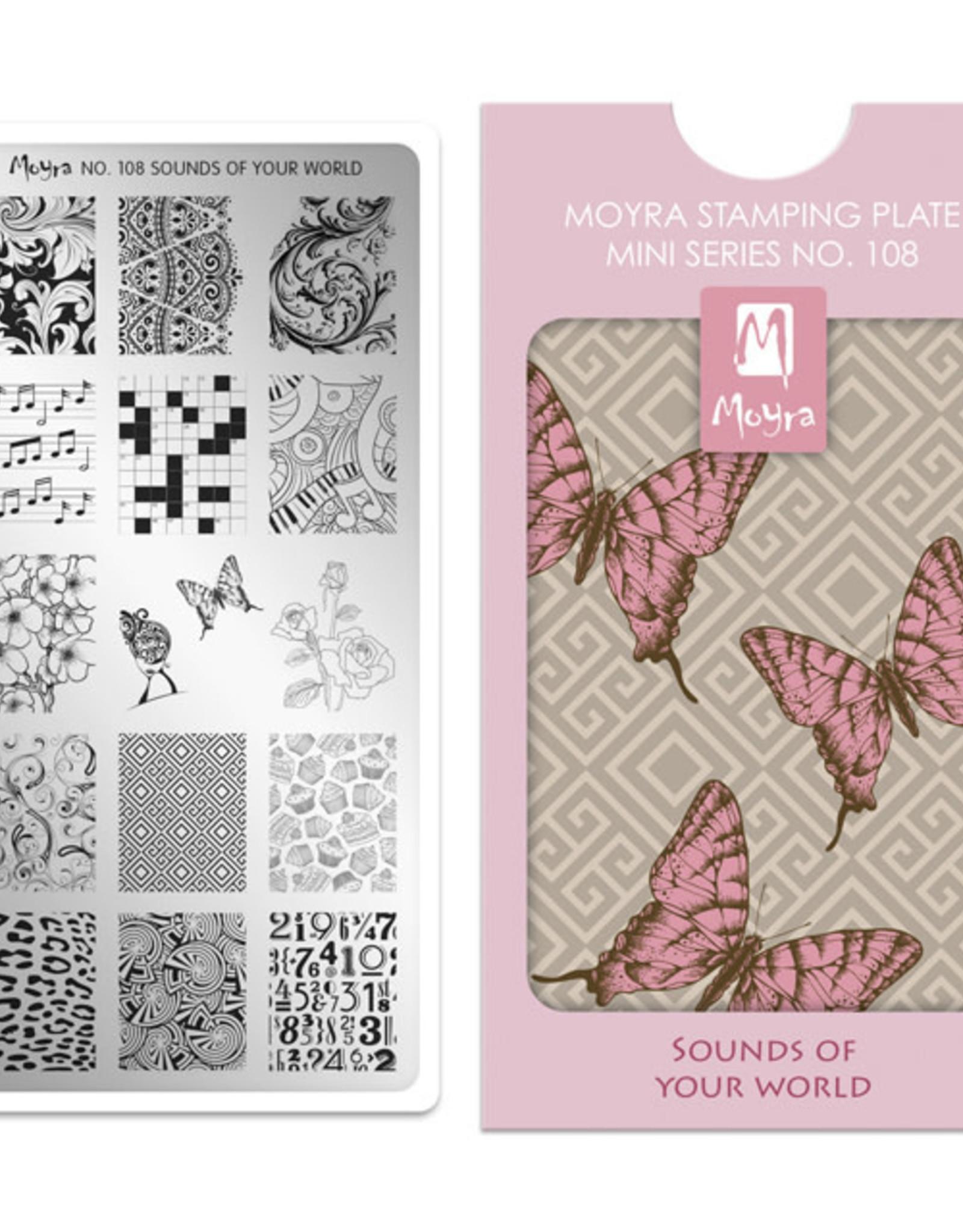 Moyra Moyra Mini Stamping plate 108 Sounds of your world