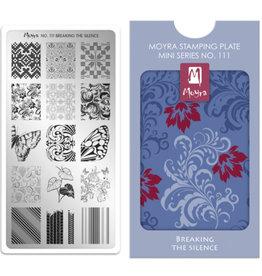 Moyra Moyra Mini Stamping plate 111 Breaking the silence
