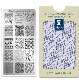 Moyra Moyra Mini Stamping plate 113 Love is all around