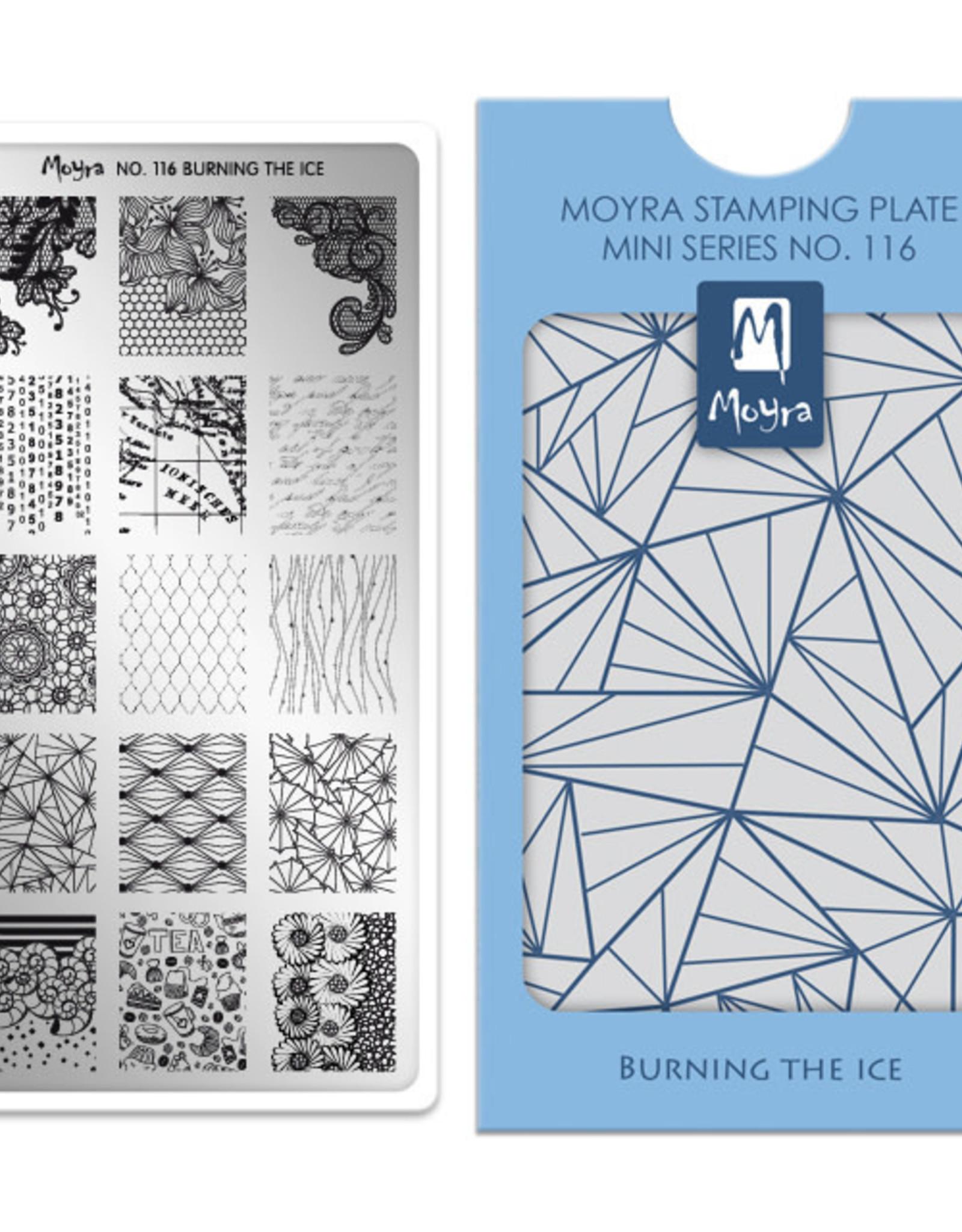 Moyra Moyra Mini Stamping plate 116 Burning the ice