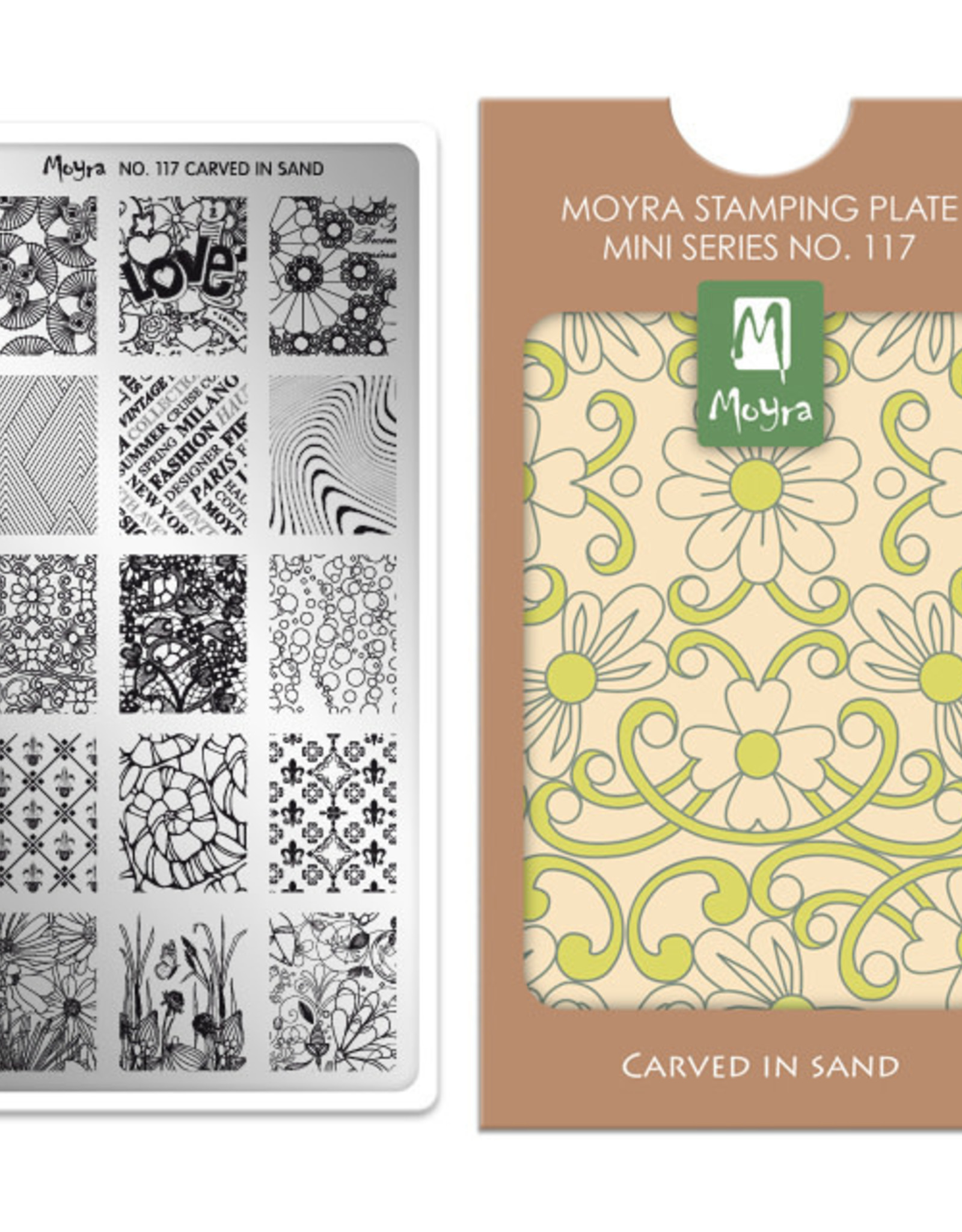 Moyra Moyra Mini Stamping plate 117 Carved in sand
