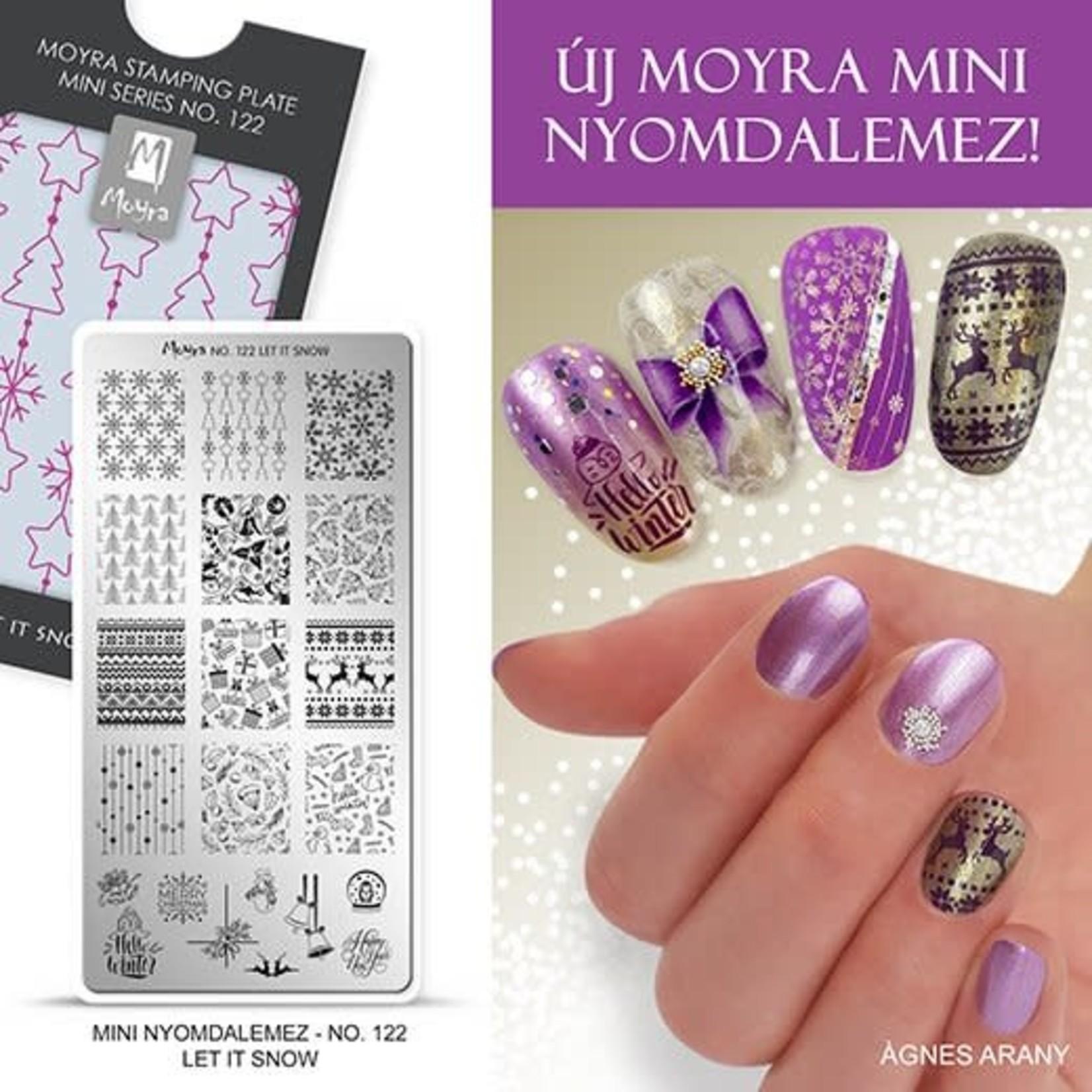 Moyra Moyra Mini Stamping plate 122 Let it snow
