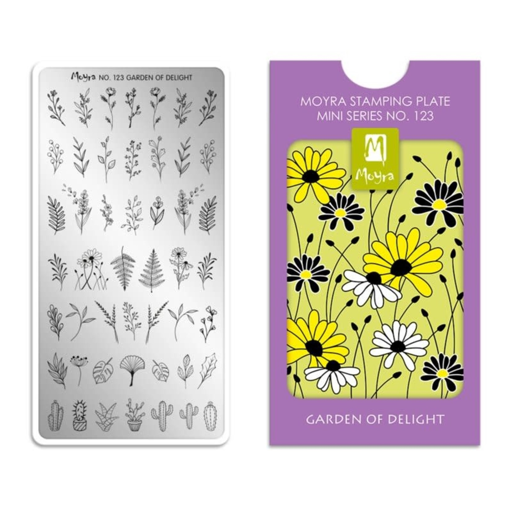 Moyra Moyra Mini Stamping plate 123 Garden of Delight