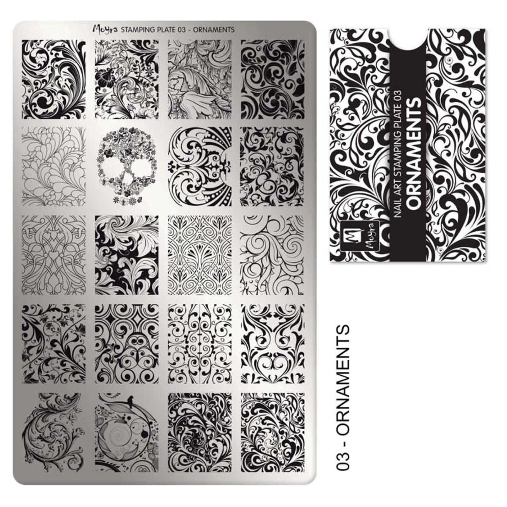 Moyra Moyra Stamping plate 03 Ornaments