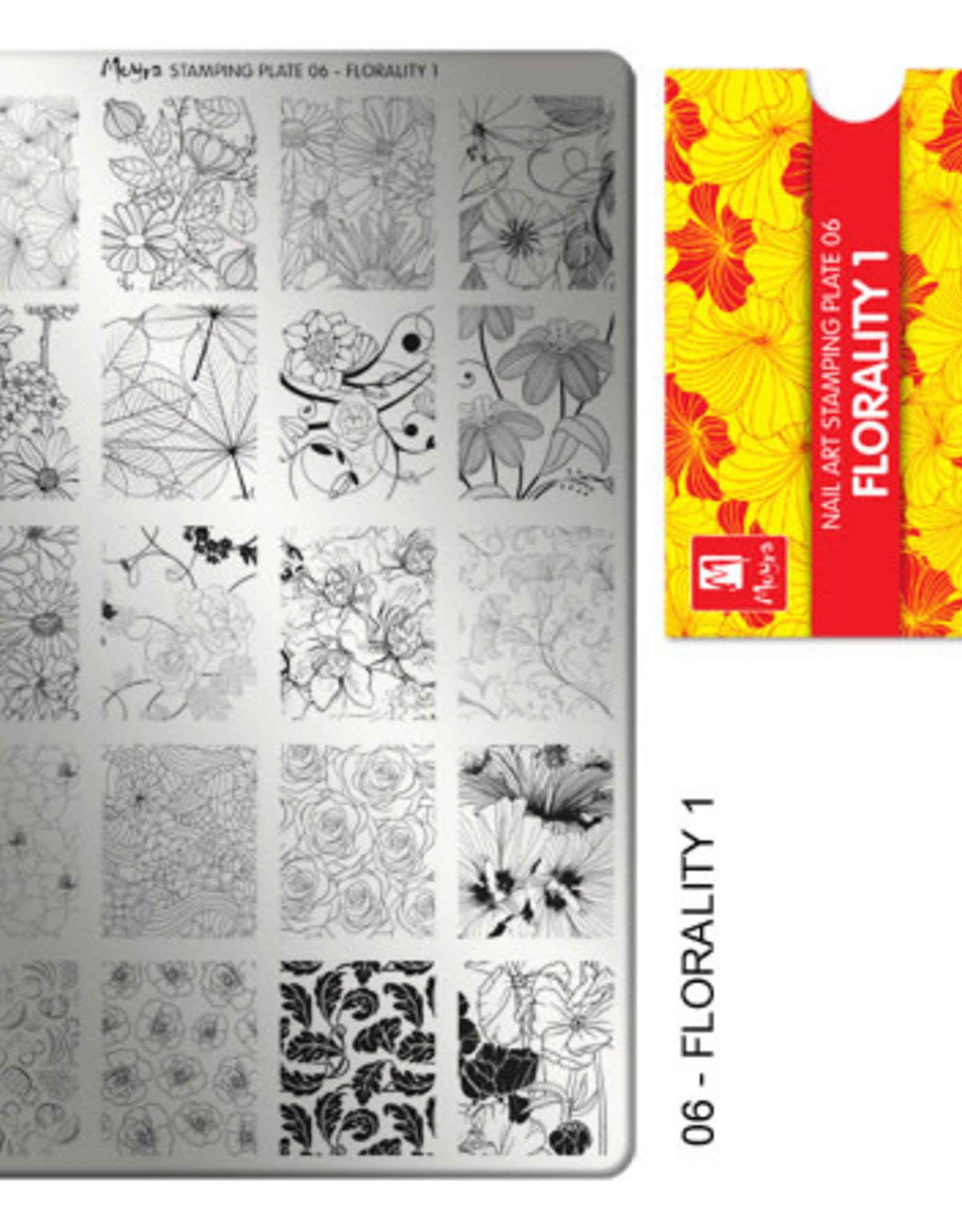 Moyra Moyra Stamping plate 06 Florality 1
