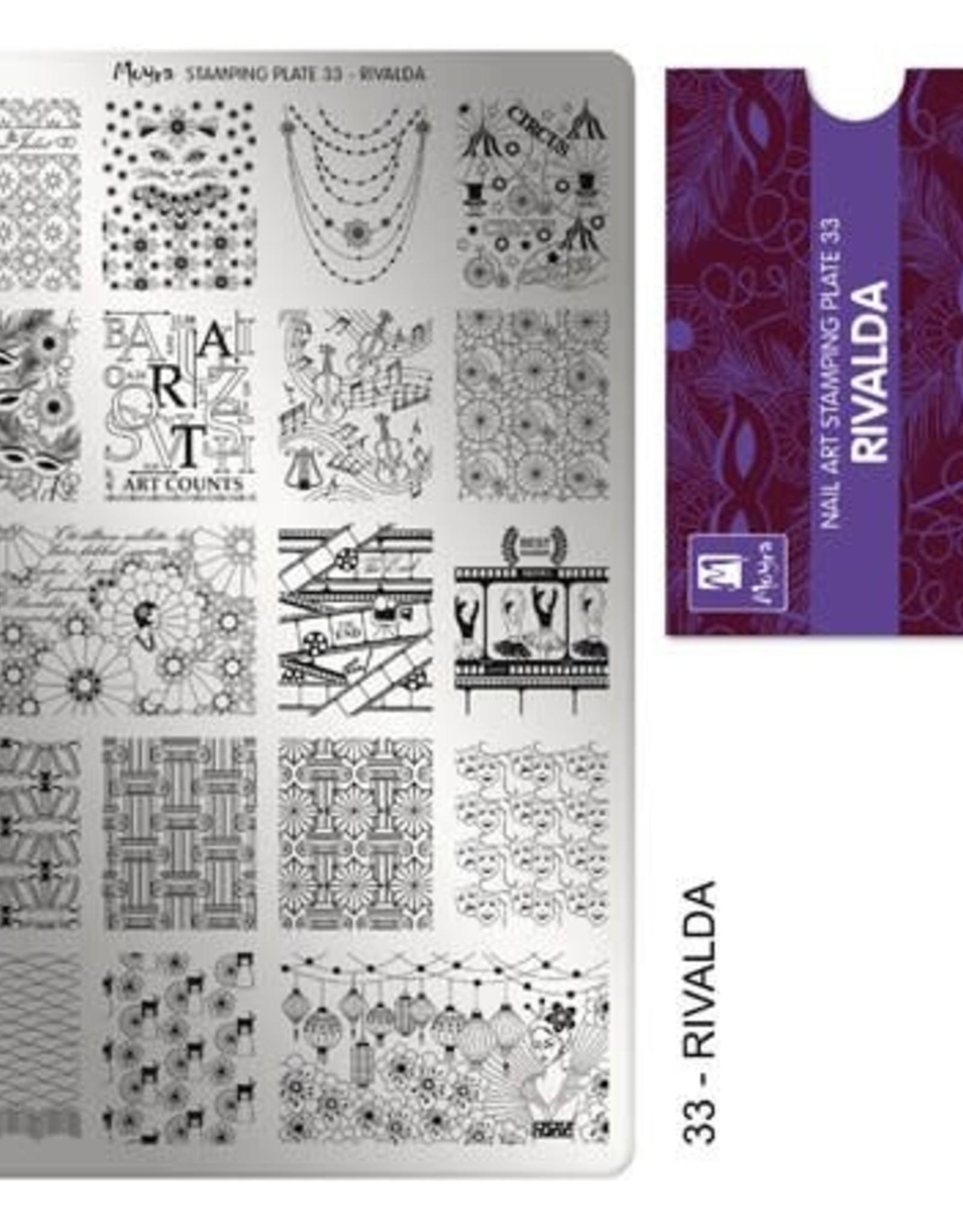 Moyra Moyra Stamping plate 33 Rivalda