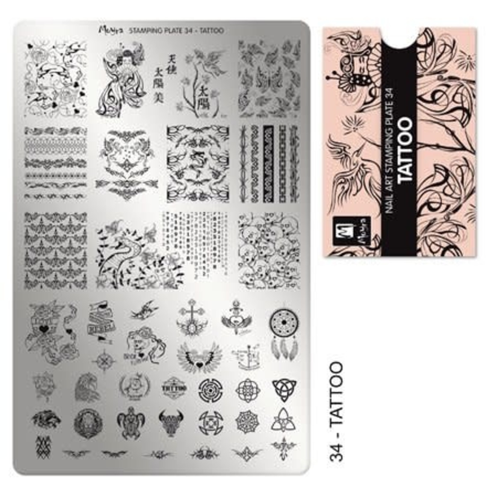 Moyra Moyra Stamping plate 34 Tattoo