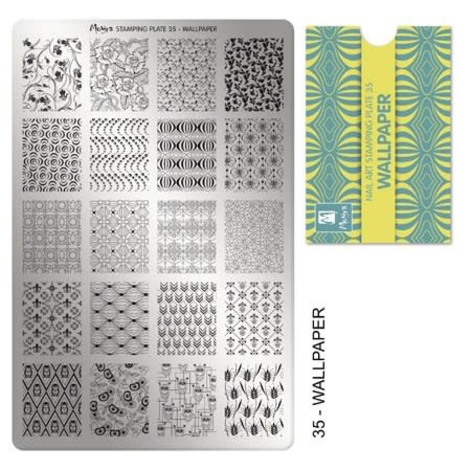 Moyra Moyra Stamping plate 35 Wallpaper