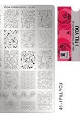 Moyra Moyra Stamping plate 45 I fill you