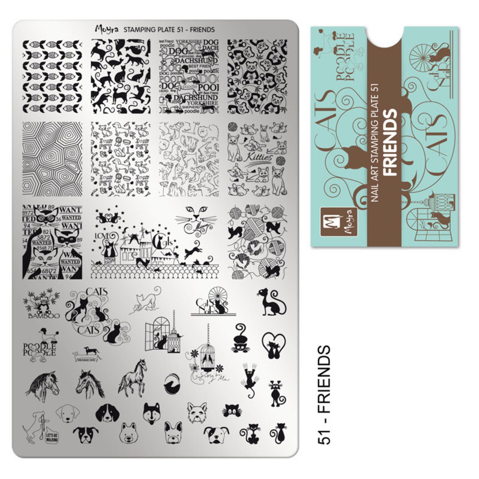 Moyra Moyra Stamping plate 51 Friends
