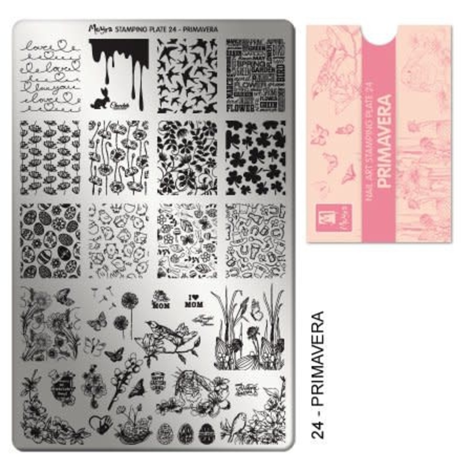 Moyra Moyra Stamping plate 24 Primavera