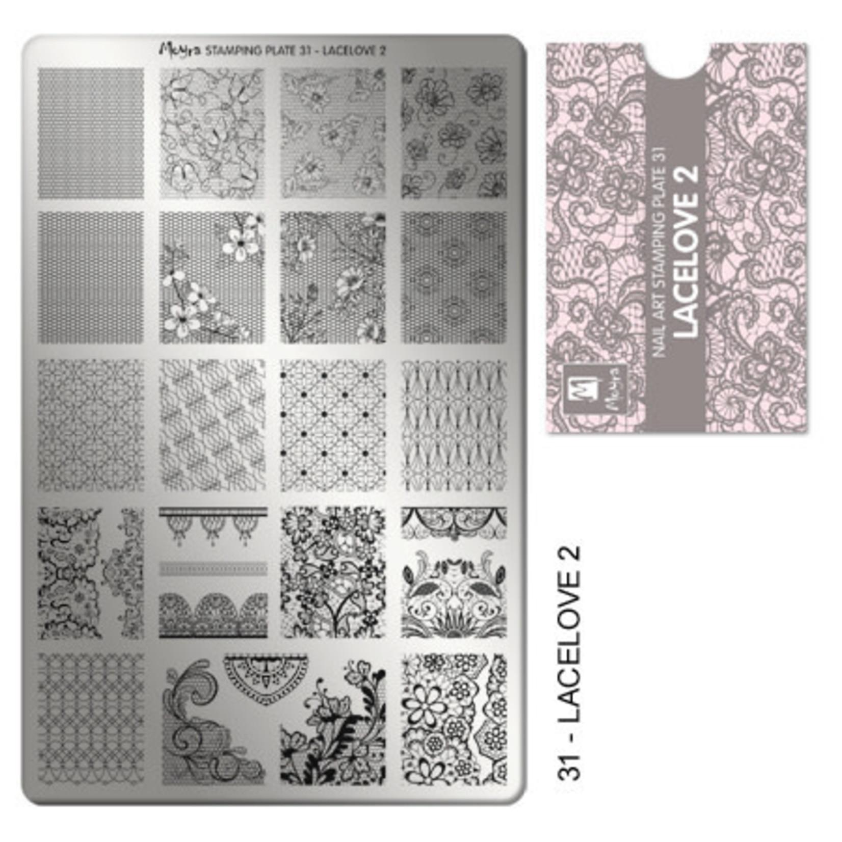 Moyra Moyra Stamping plate 31 Lacelove2