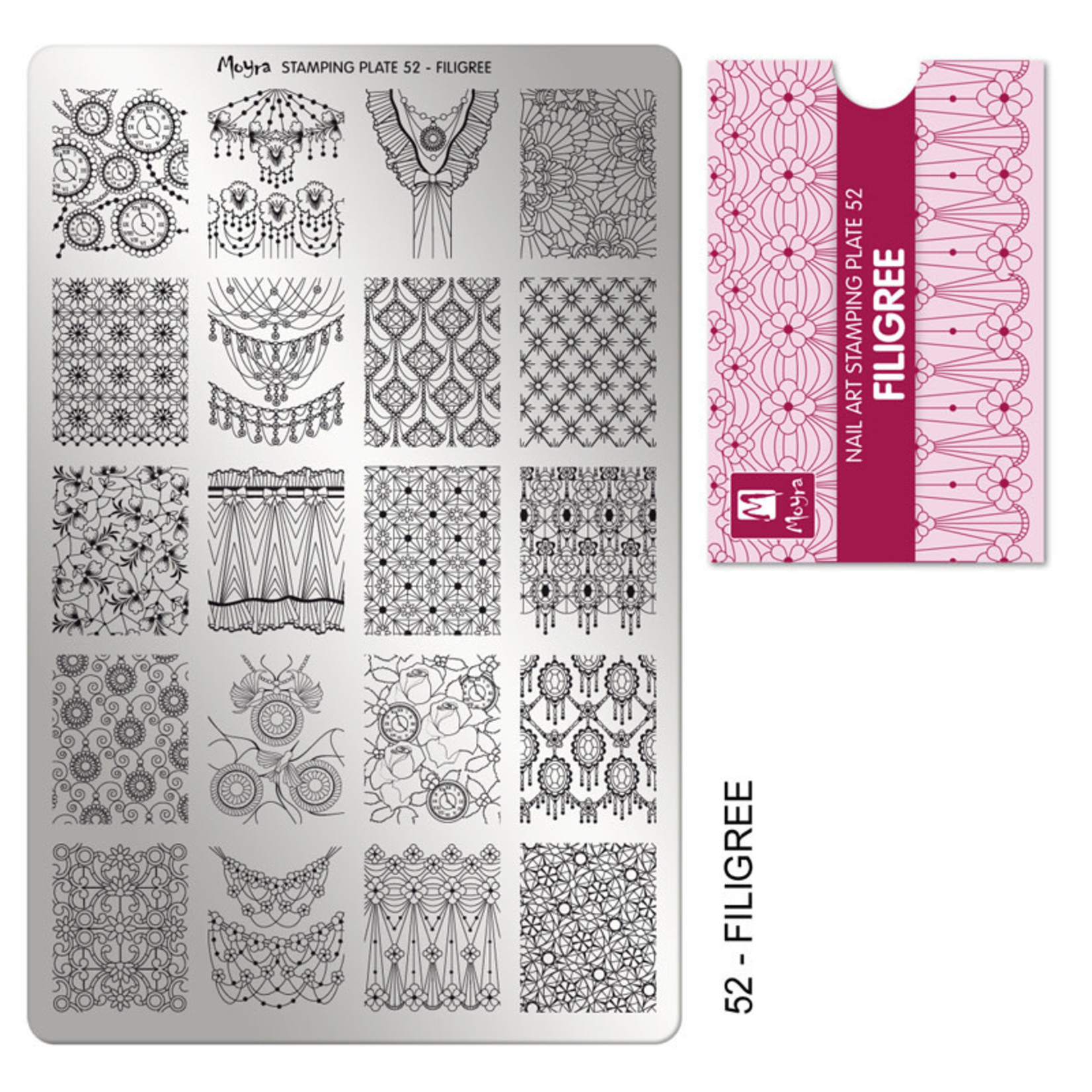 Moyra Moyra Stamping plate 52 Filigree