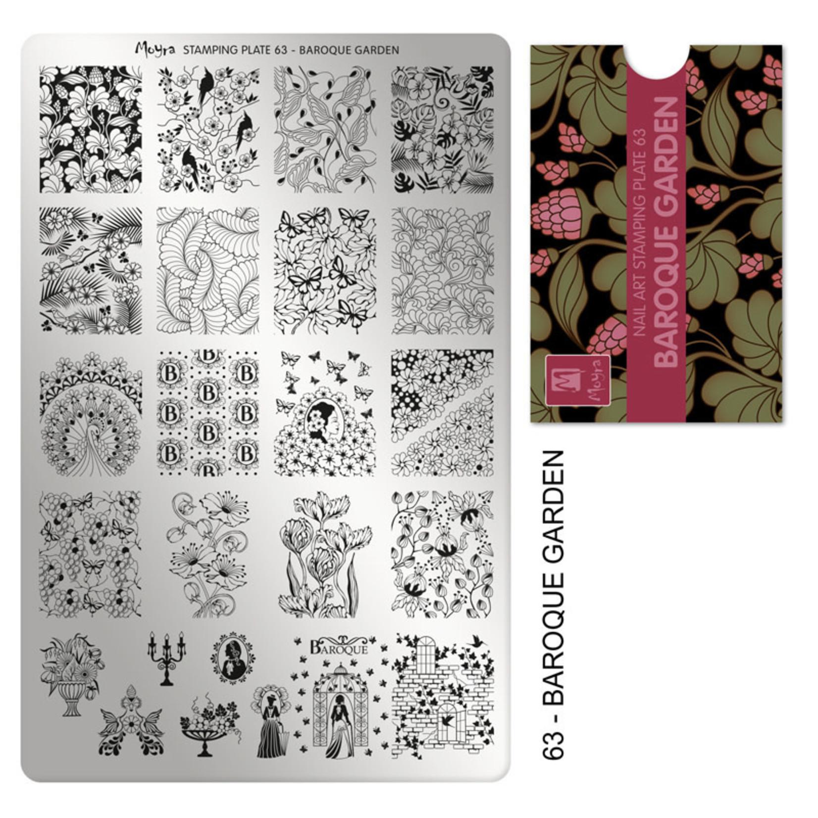 Moyra Moyra Stamping plate 63 Baroque garden