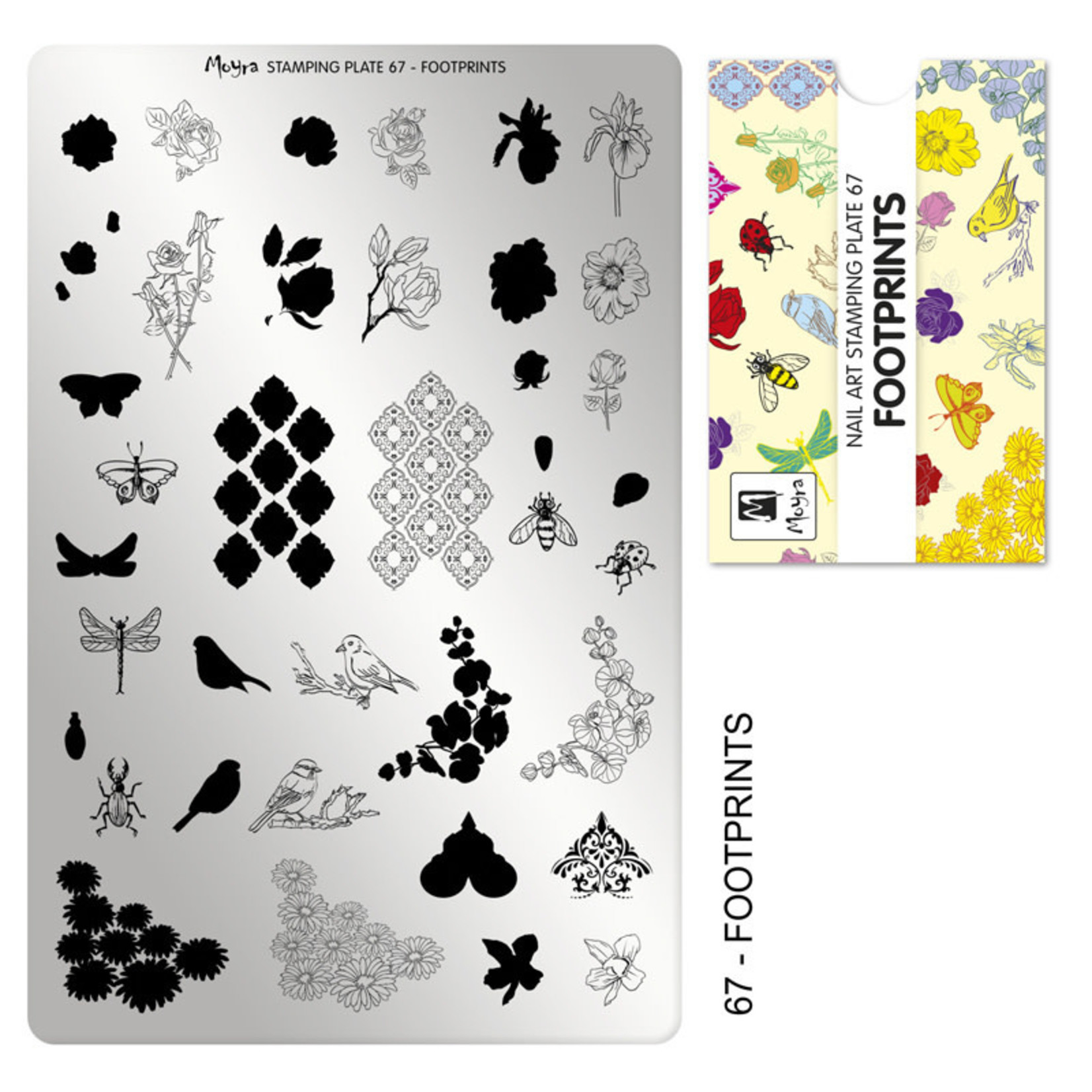 Moyra Moyra Stamping plate 67 Footprints
