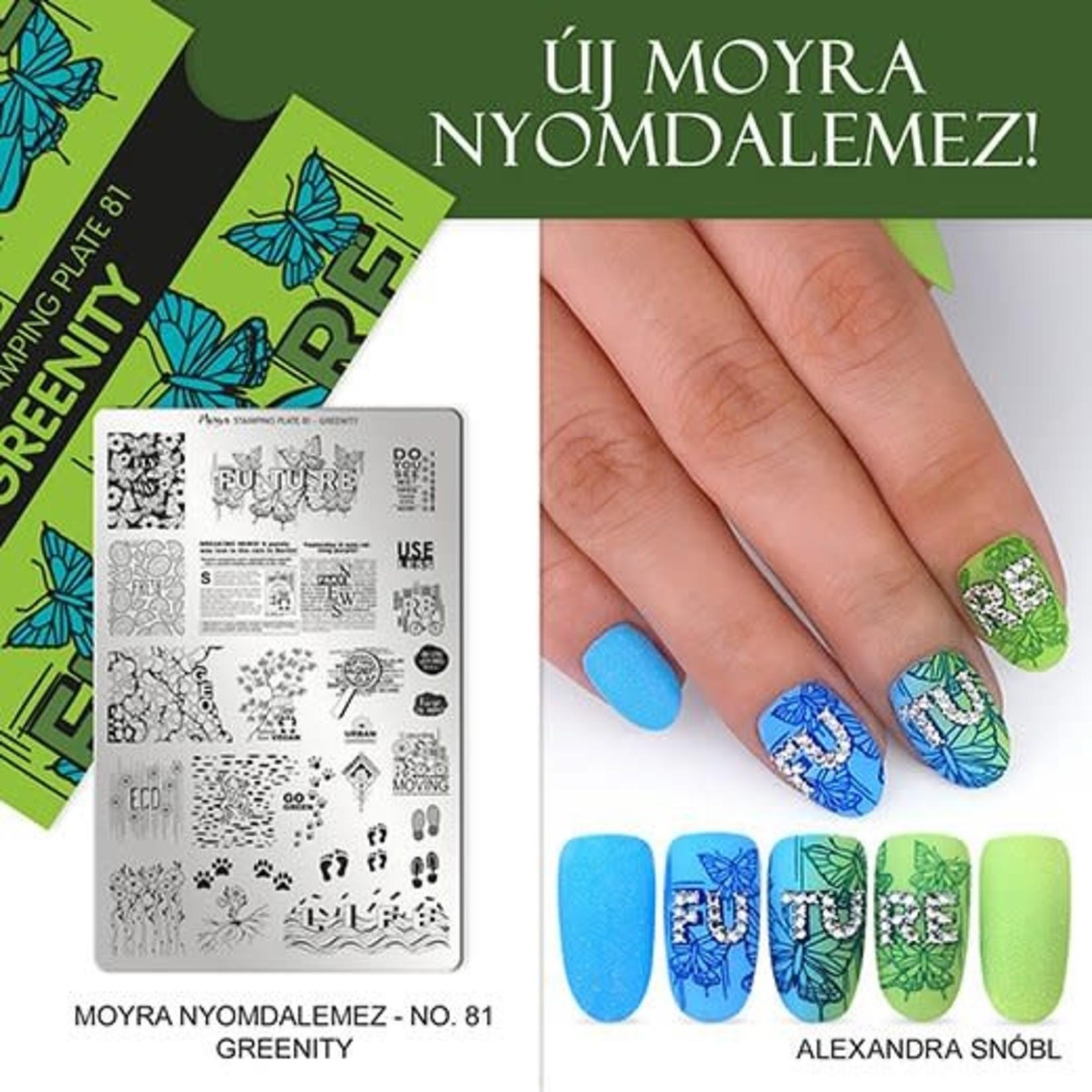 Moyra Moyra Stamping plate 81 Greenity