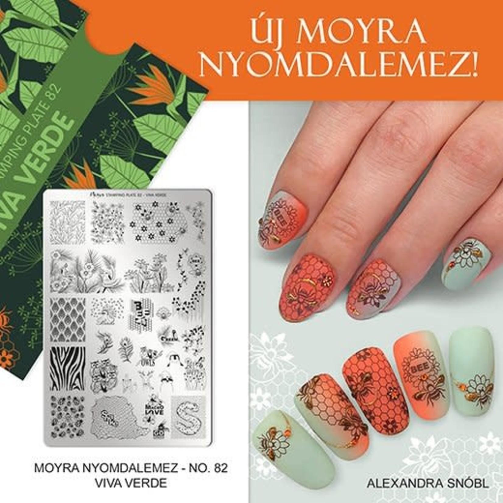 Moyra Moyra Stamping plate 82 Viva verde