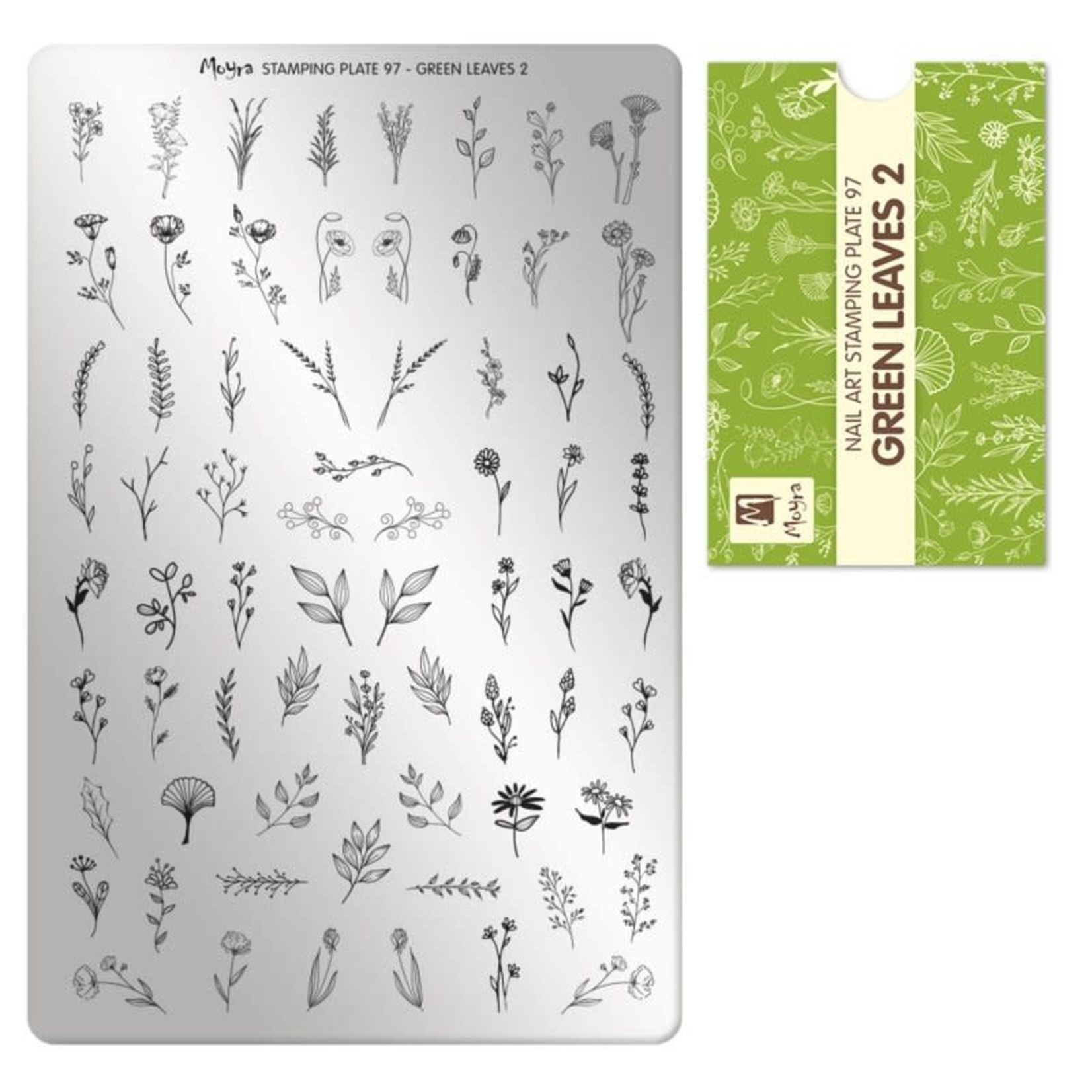 Moyra Moyra Stamping plate 97 Green leaves 2