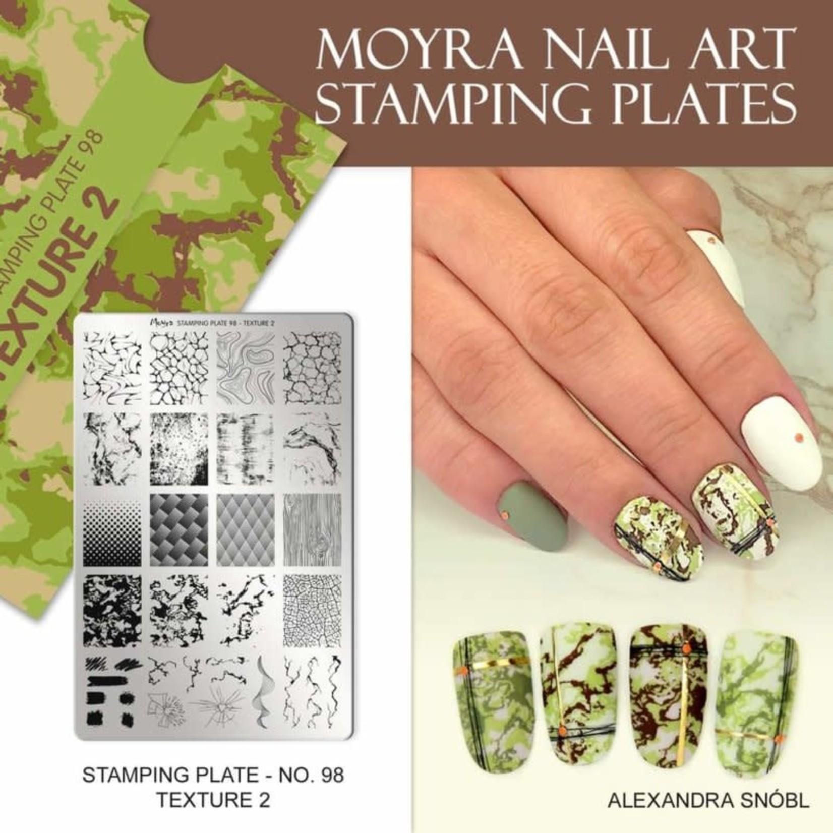 Moyra Moyra Stamping plate 98 Texture 2
