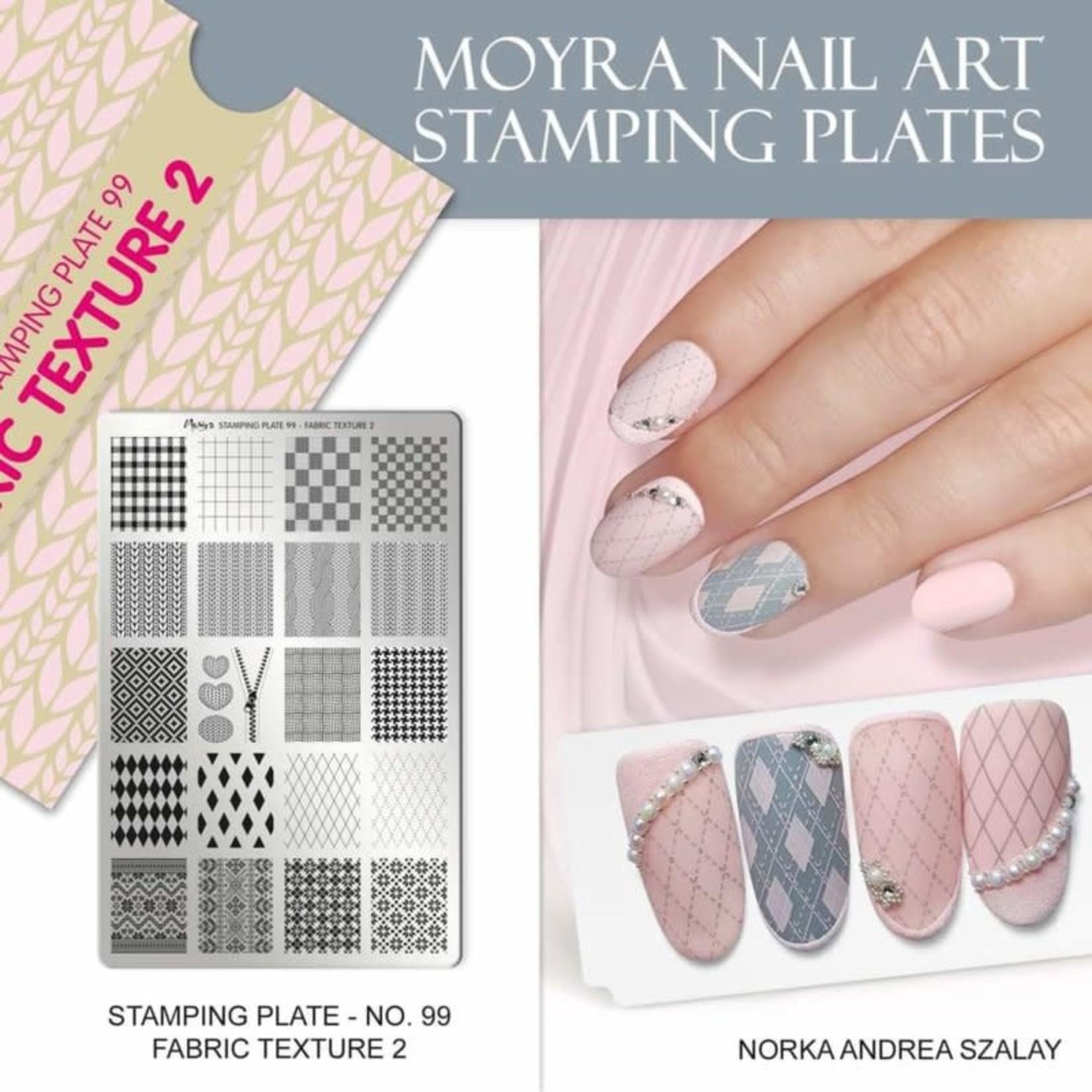 Moyra Moyra Stamping plate 99 Fabric Texture 2