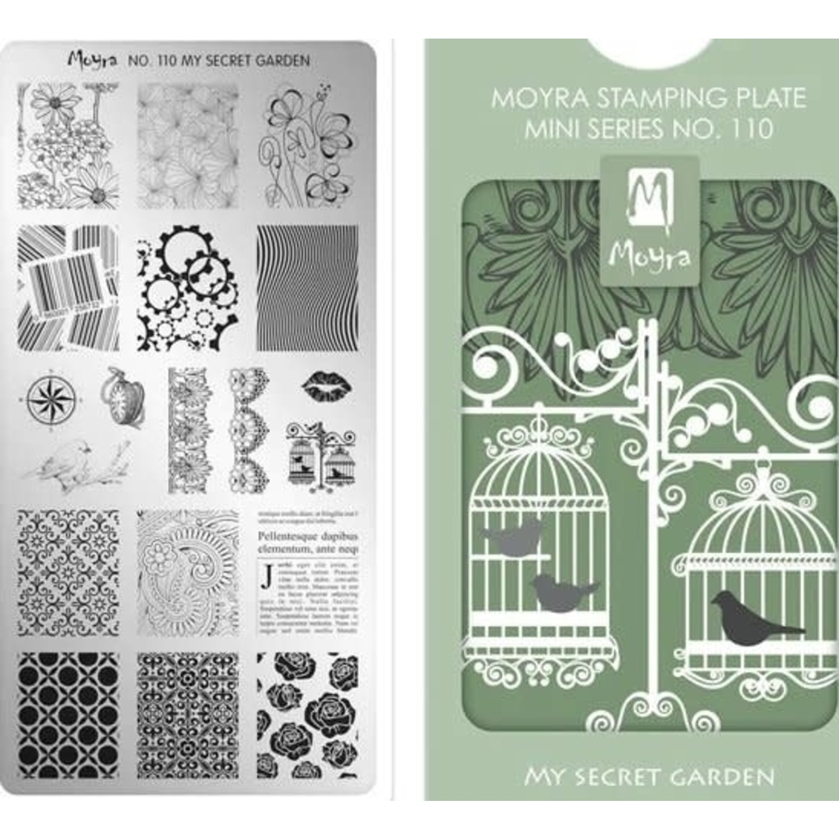 Moyra Moyra Mini Stamping plate 110 My secret garden