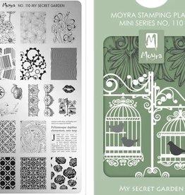 Moyra Moyra Mini Stamping plate 110 My secret garden