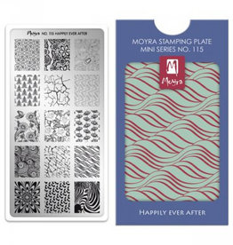 Moyra Moyra Mini Stamping plate 115 Happily ever after