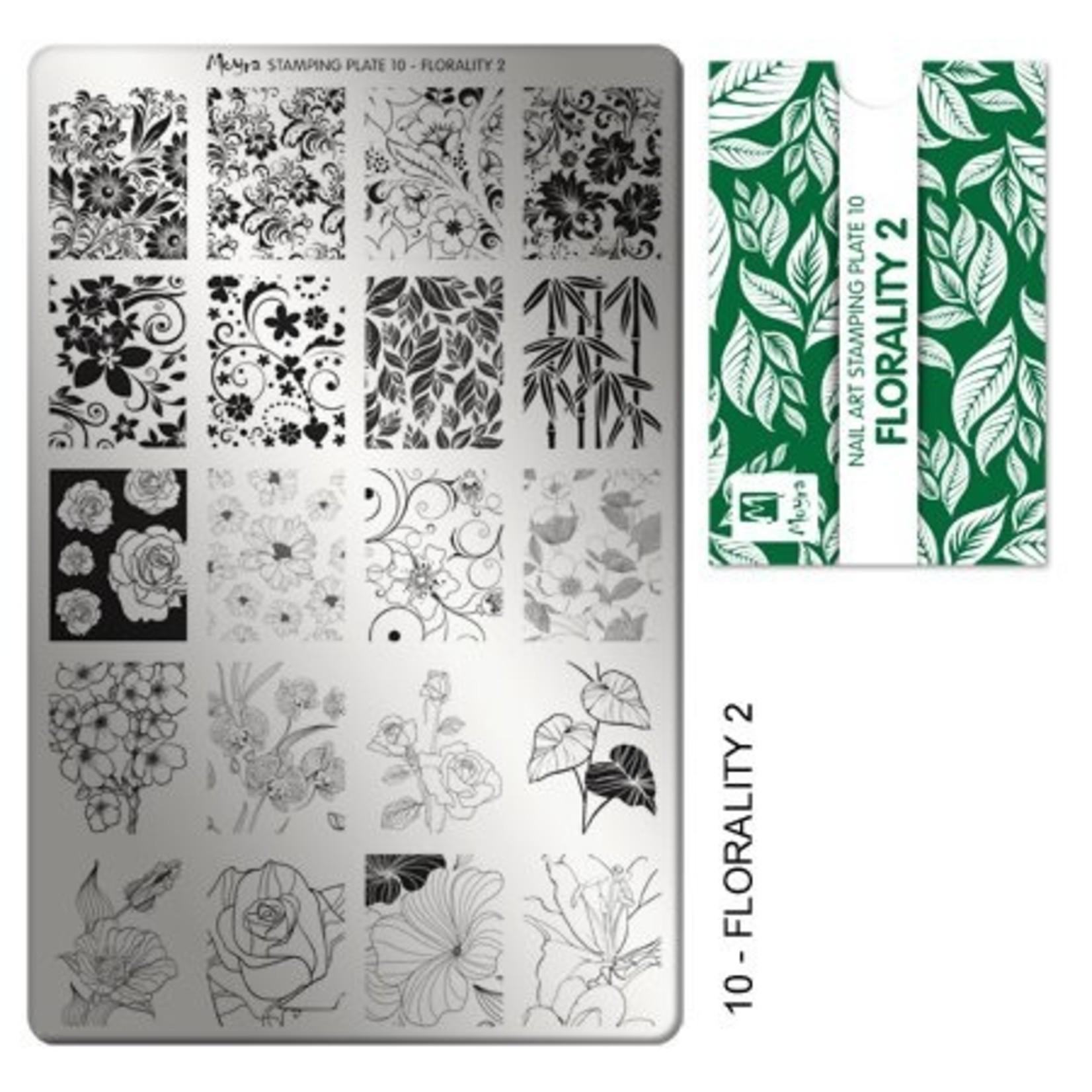 Moyra Moyra Stamping plate 10 Florality 2