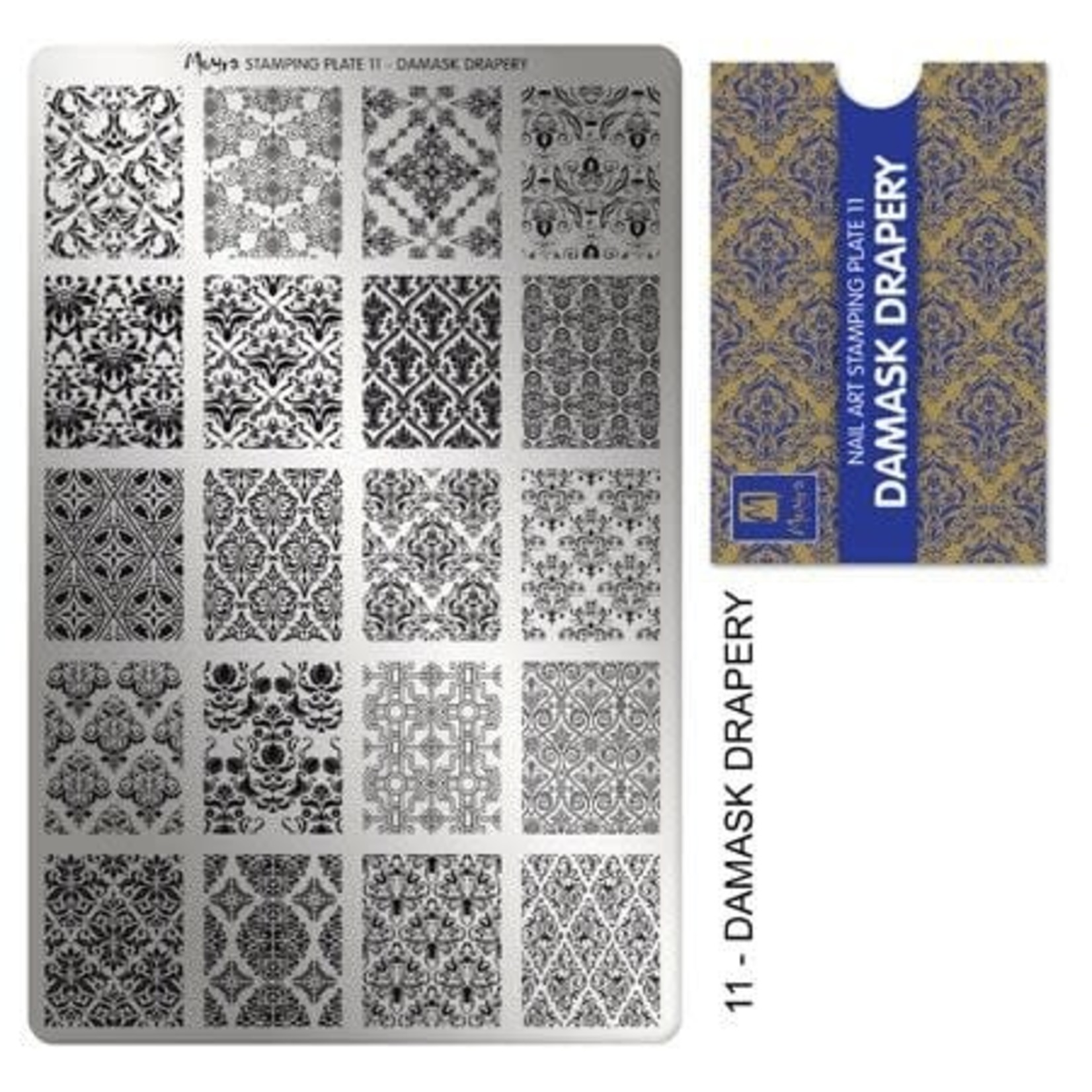 Moyra Moyra Stamping plate 11 Damask drapery