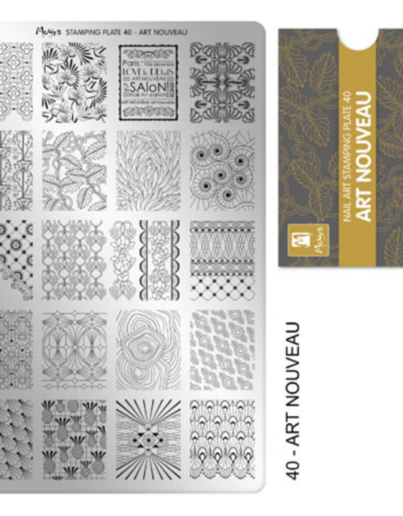 Moyra Moyra Stamping plate 40 Art Nouveau