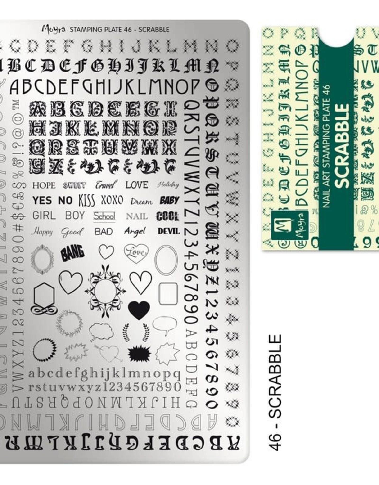 Moyra Moyra Stamping plate 46 Scrabble
