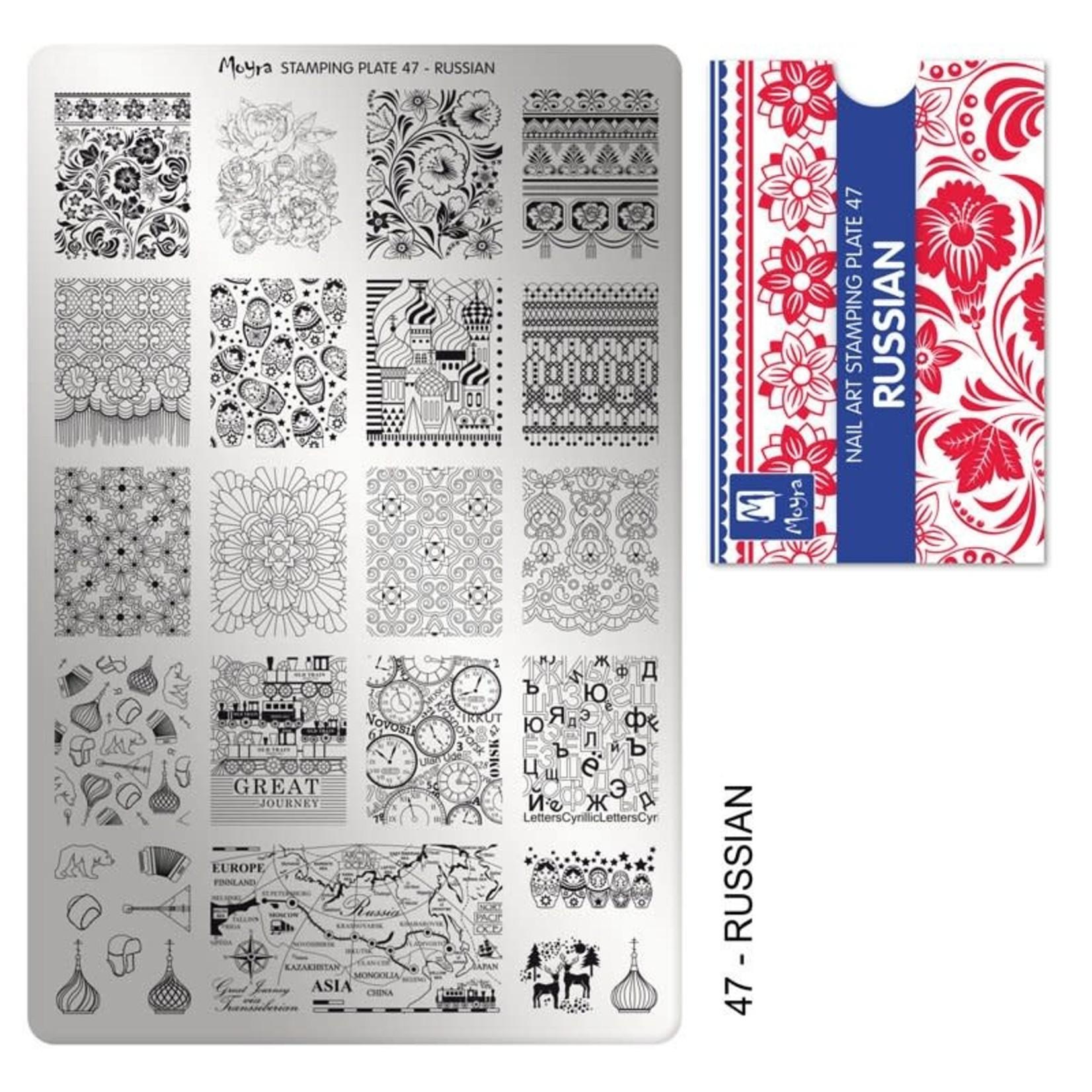 Moyra Moyra Stamping plate 47 Russian