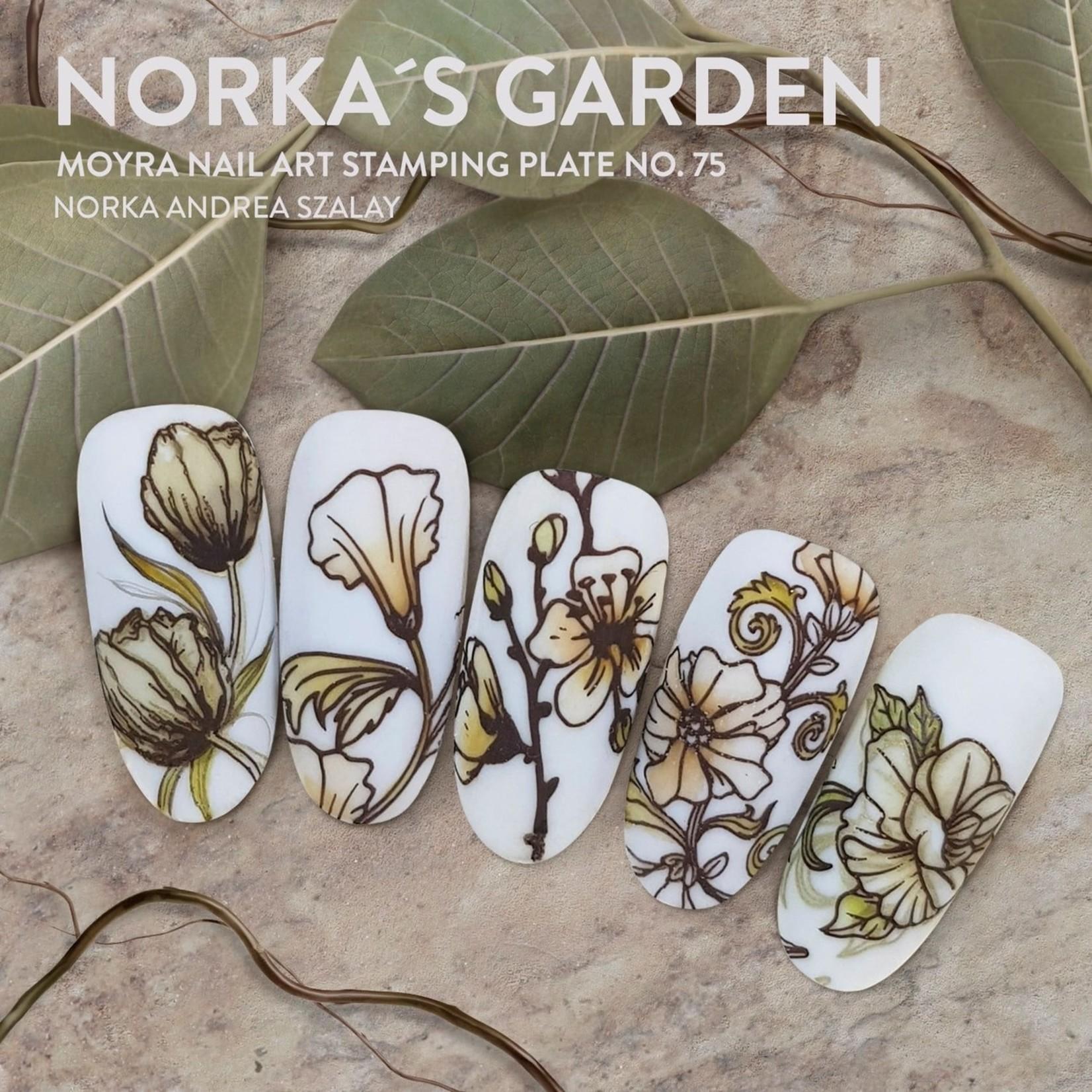 Moyra Moyra Stamping plate 75 Norka's garden