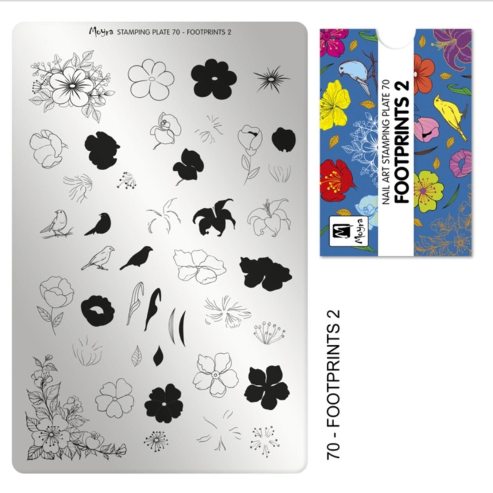 Moyra Moyra Stamping plate 70 Footprints 2