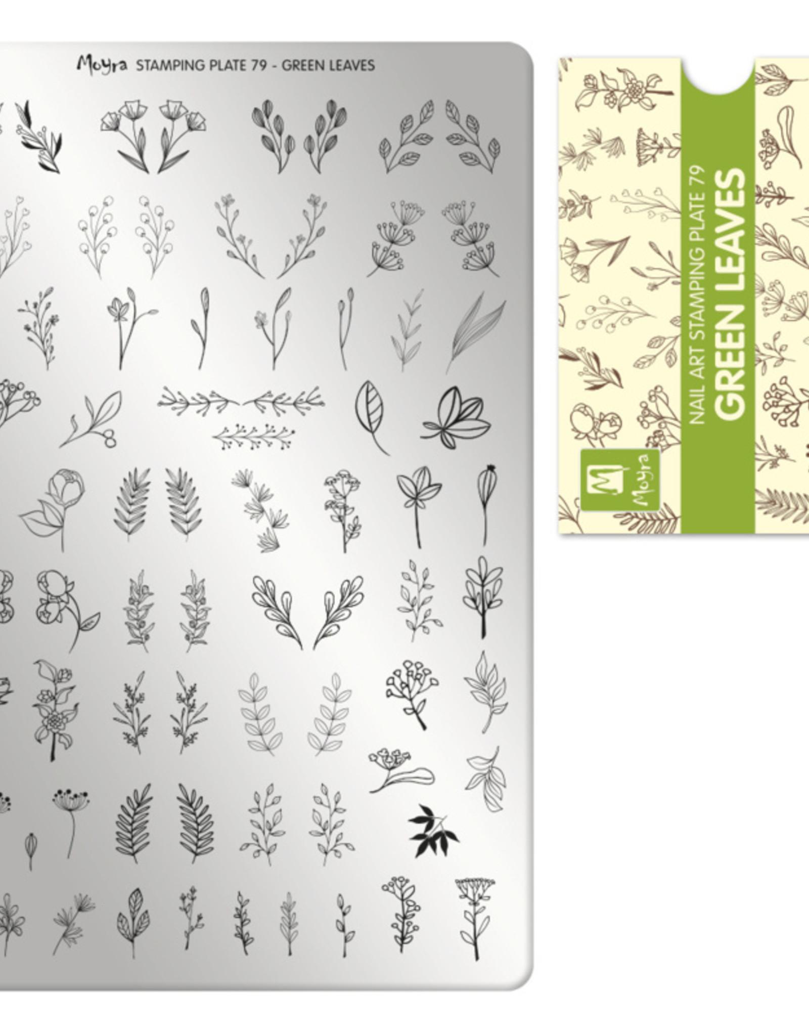 Moyra Moyra Stamping plate 79 Green leaves