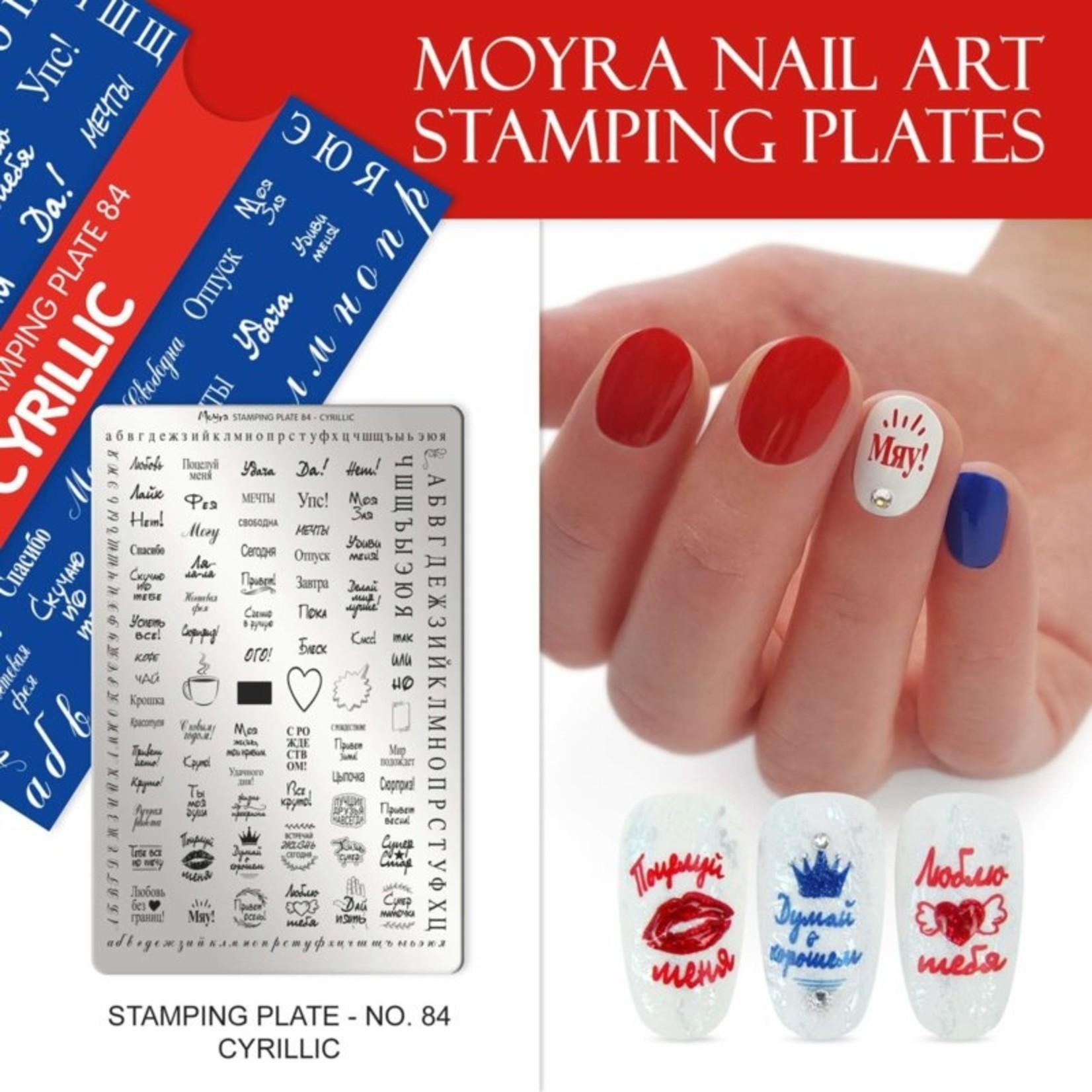 Moyra Moyra Stamping plate 84 Cyrilic