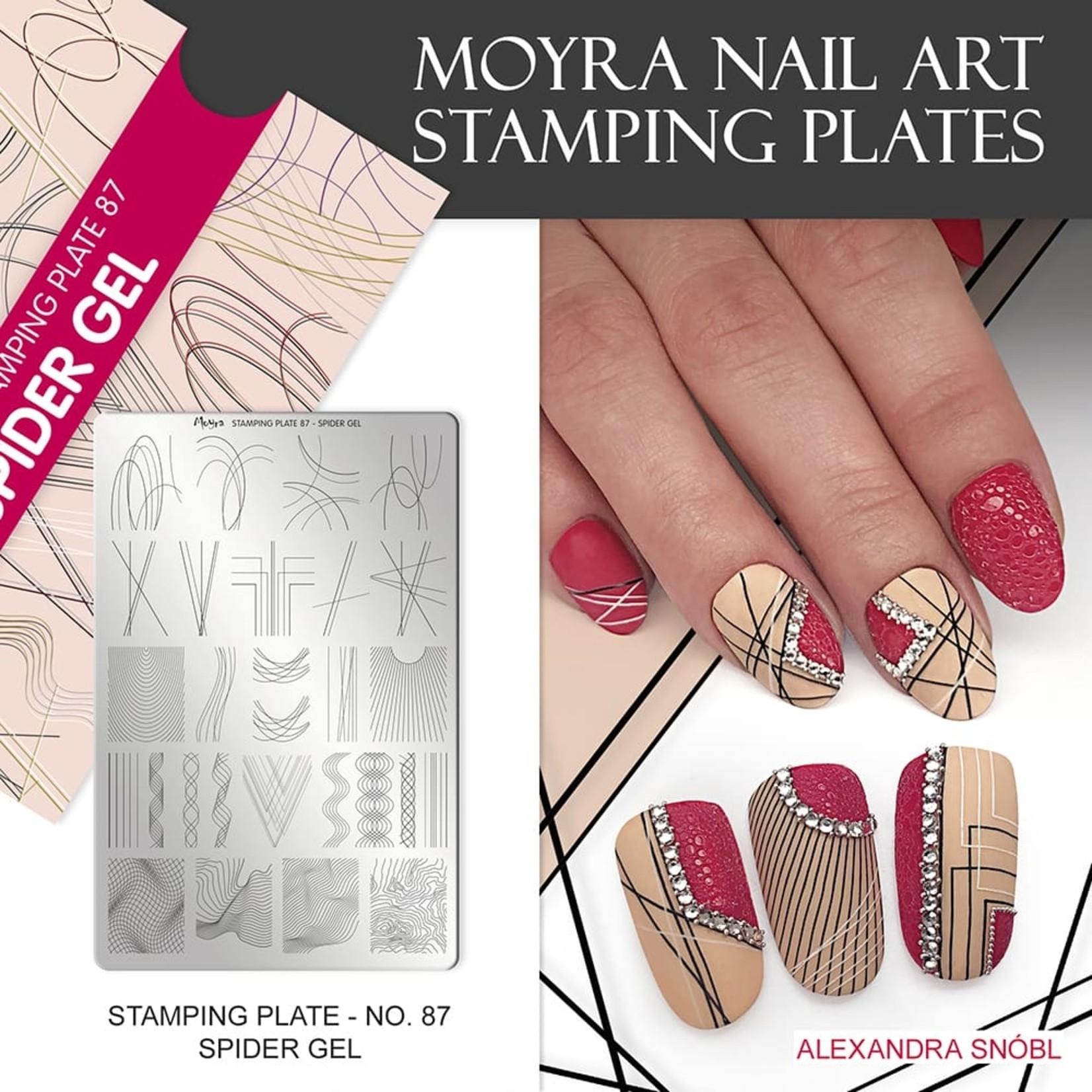 Moyra Moyra Stamping plate 87 Spider Gel