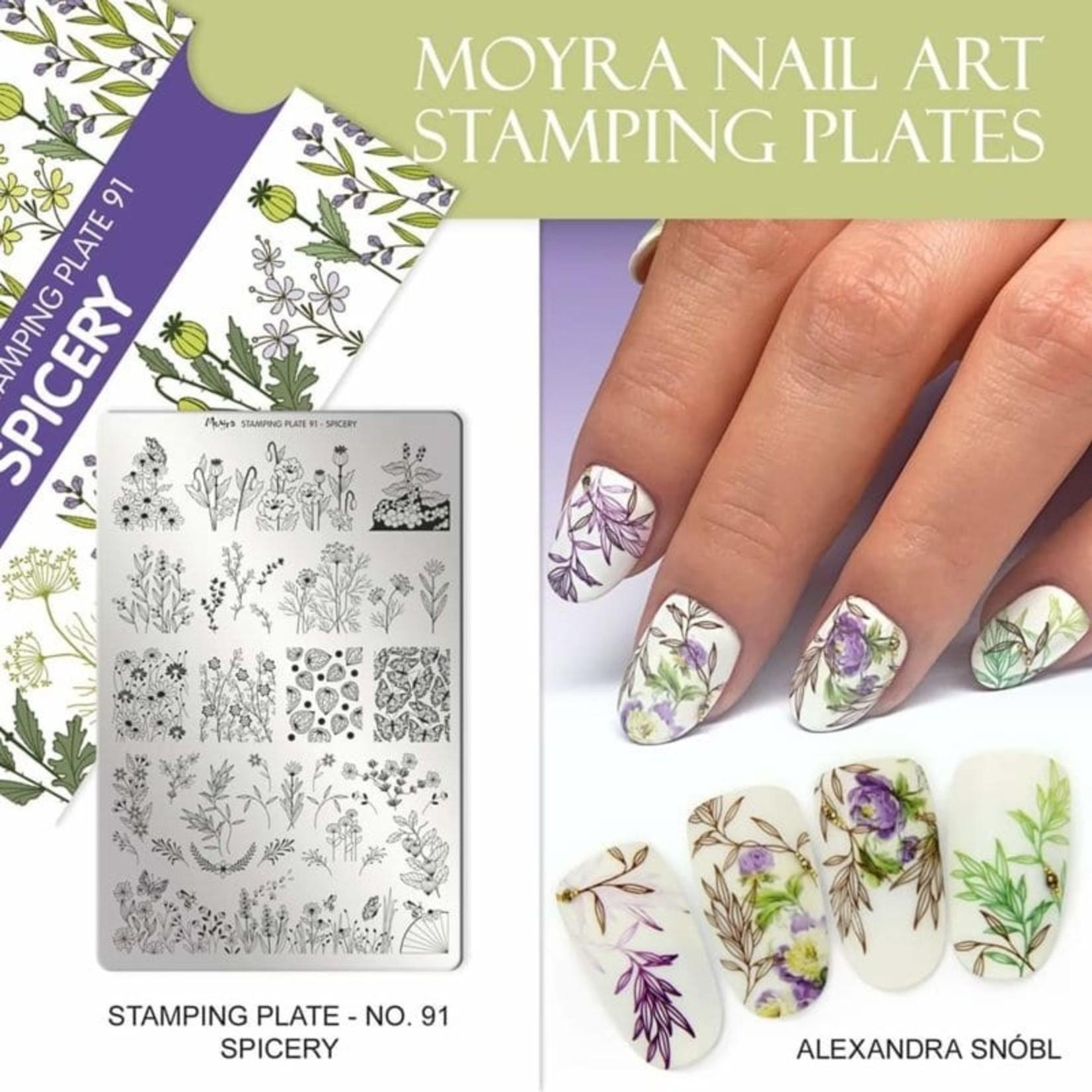 Moyra Moyra Stamping plate 91 Spicery