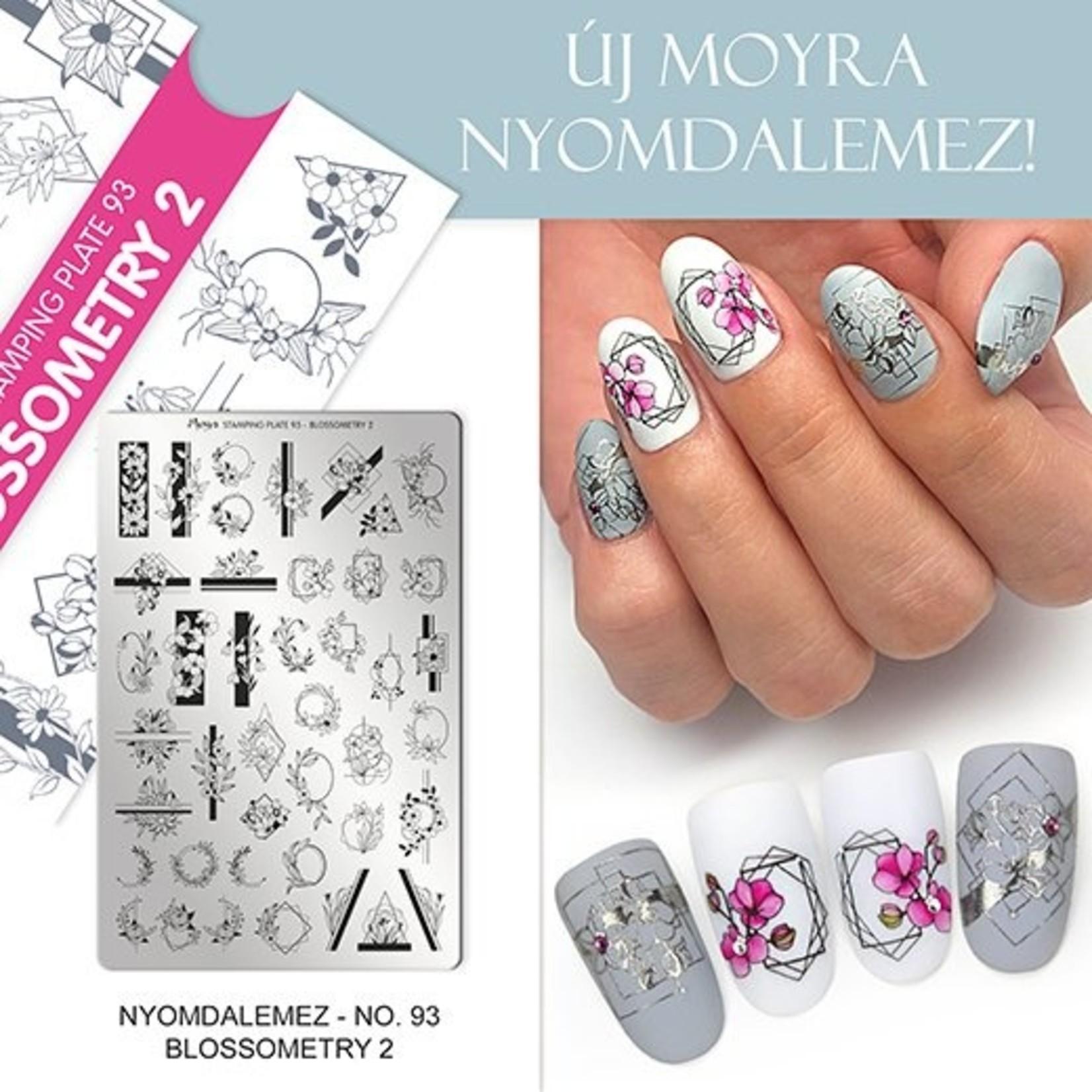 Moyra Moyra Stamping plate 93 Blossometry 2