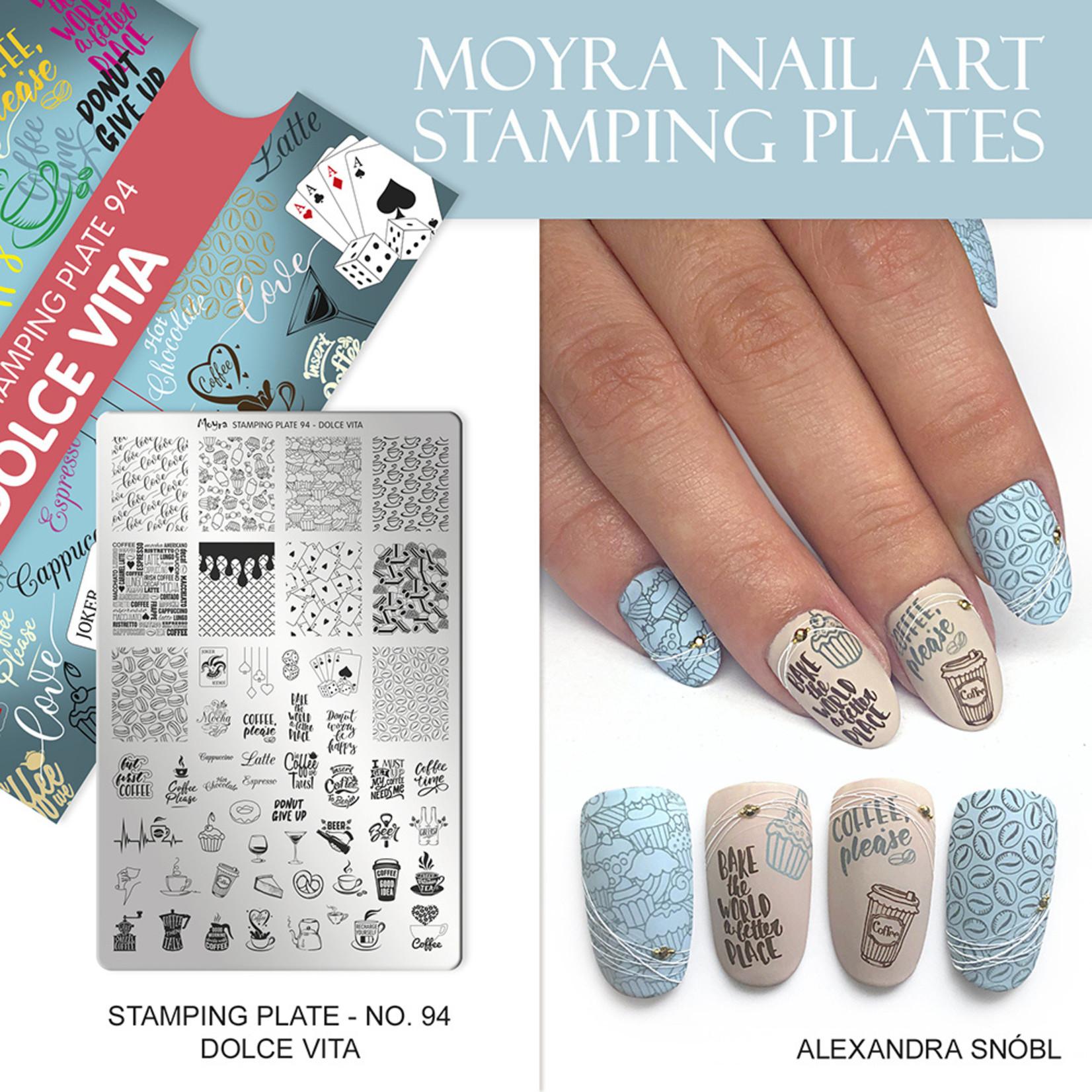 Moyra Moyra Stamping plate 94 Dolce Vita