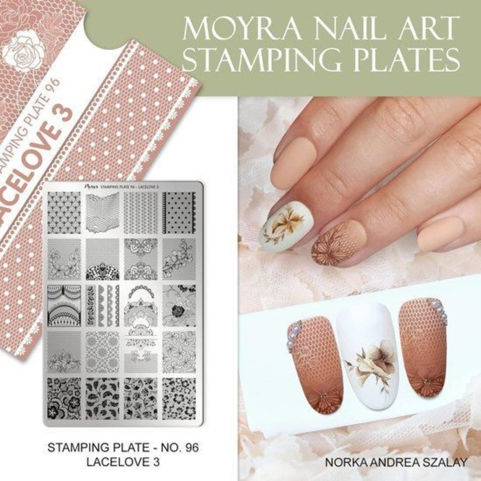 Moyra Moyra Stamping plate 96 Lacelove 3