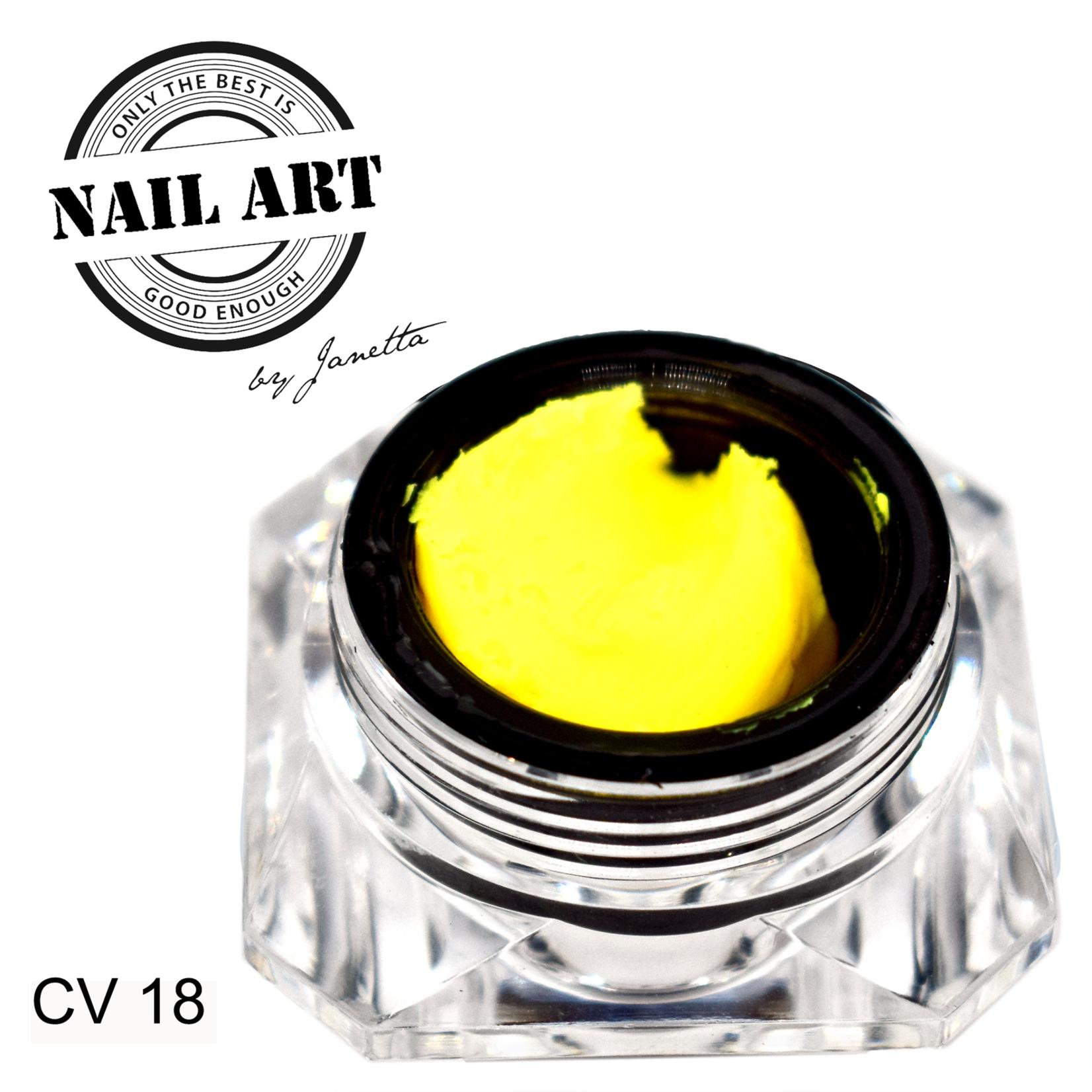 Urban Nails Carving Gel 18 Neon Geel