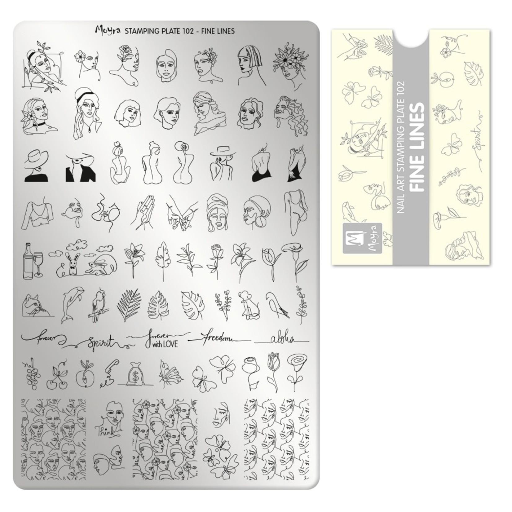 Moyra Moyra Stamping plate 102 - Fine Lines