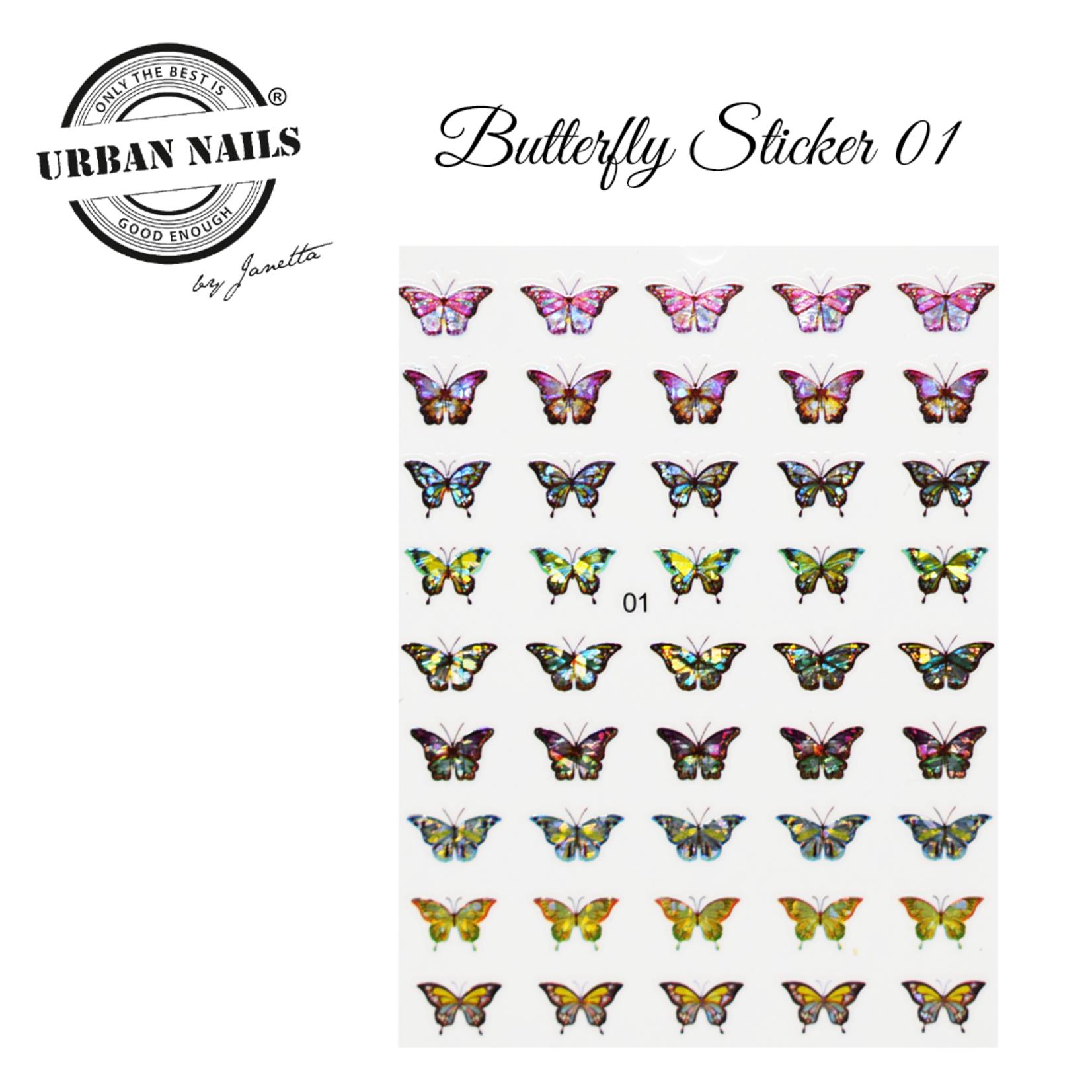 Urban Nails Butterfly sticker 01
