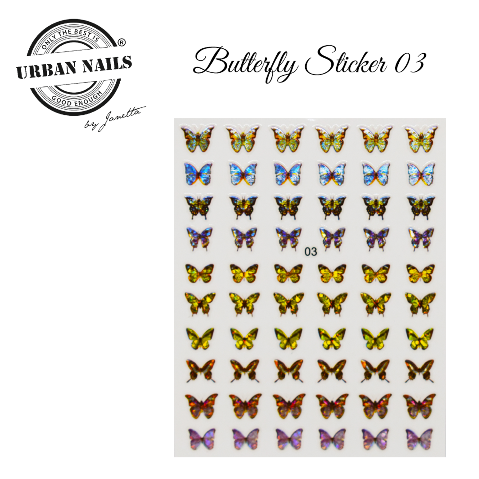 Urban Nails Butterfly Sticker 03
