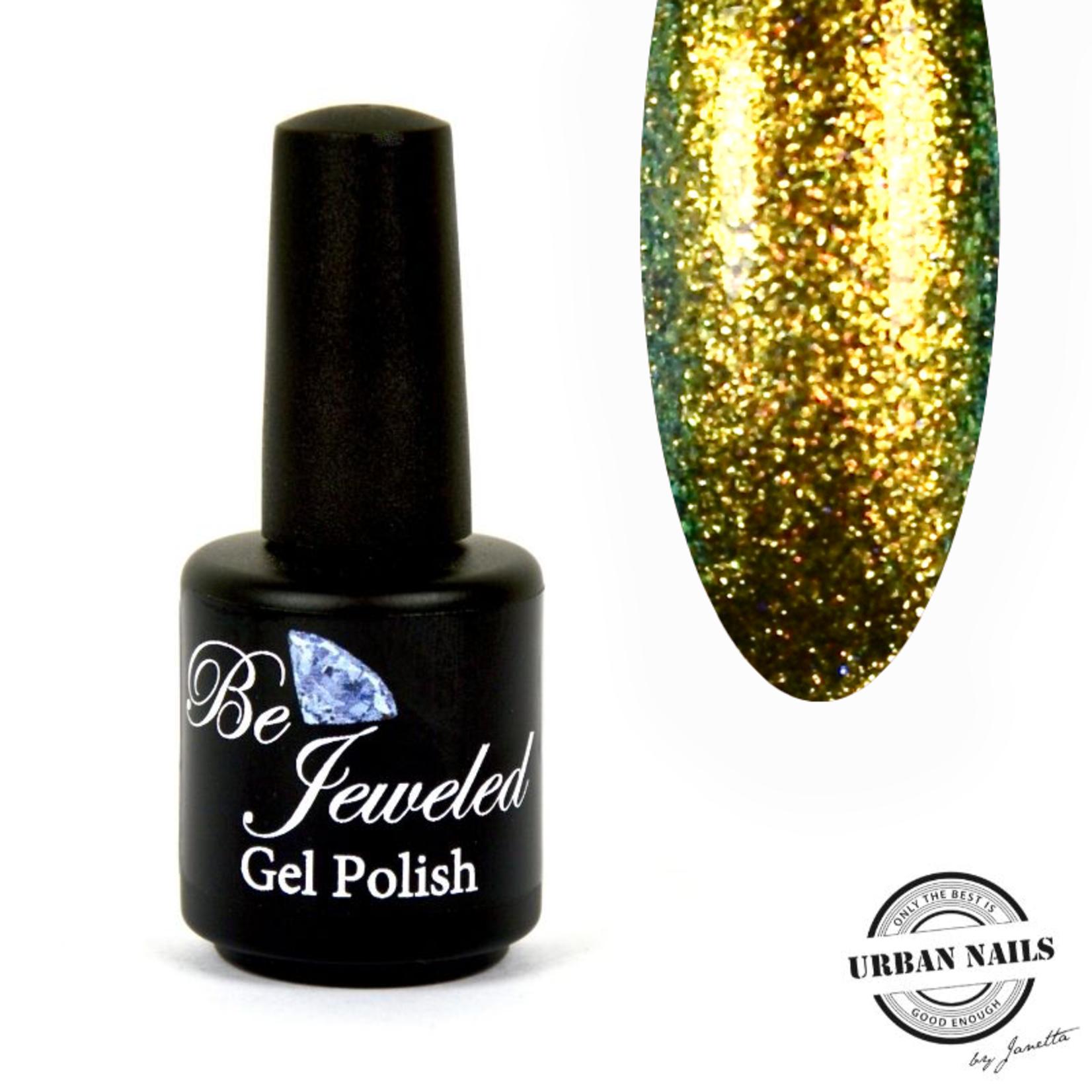 Urban Nails Be Jeweled Enchanted Gelpolish 02 Geel/Zilver