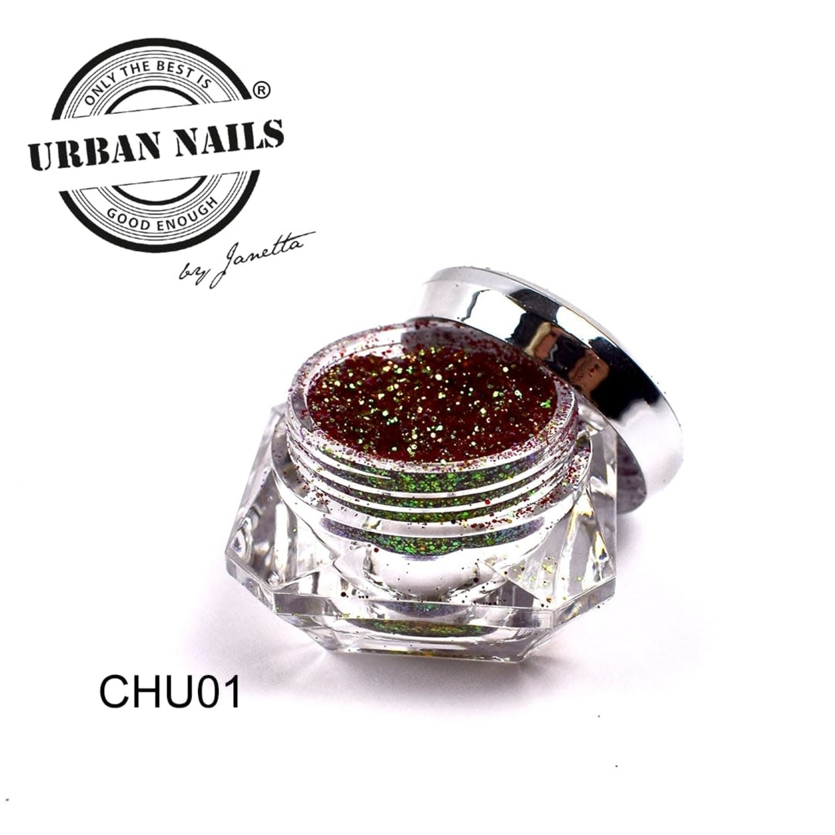 Urban Nails Chunky Chameleon 01 Bruin/Rood